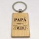 """Llavero en madera """"Papá eres el mejor"""""""